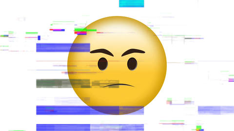 Emoji looking mad against white background Animation