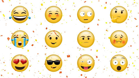 Emojis with different faces Animation