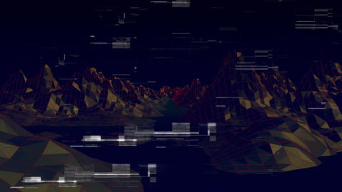 Digitally generated animation of a 3d landscape with rocks Stock Video Footage
