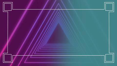 Digitally generated animation of neon triangular Animation