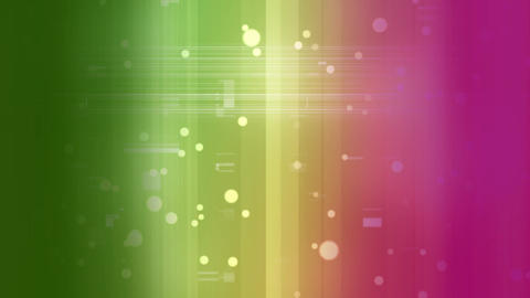 Animation of colorful light effects line surounded by light bubbles Animation