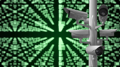 Surveillance camera against computer analysis Animation