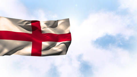 English flag waving in the wind Animation