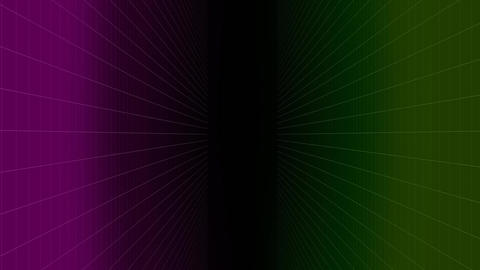 Digital composite of three colors and little rays on dark athmospere Animation