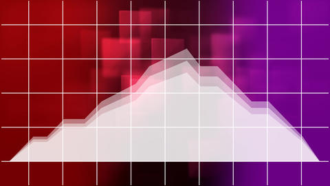 Moving stock prices against 3d decor and grid pattern Animation
