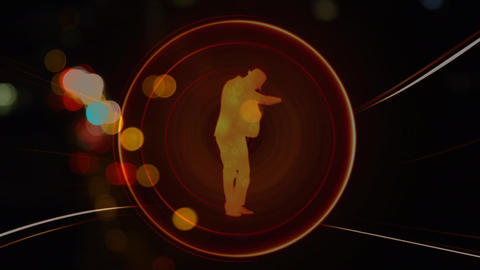 Man appearing on suit, well dressed with hat with light bubble Animation