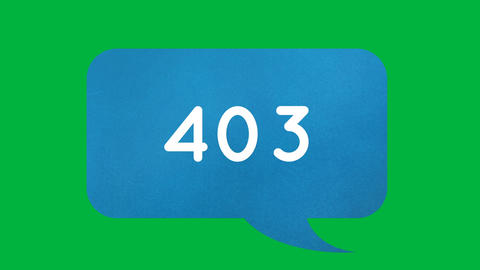 Blue chat box with increasing numbers 4k Animation