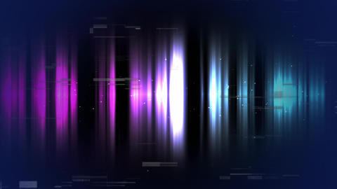 Colorful light effects scrambled on dark background Animation