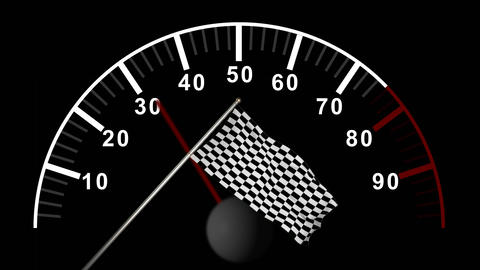 Car counter against checkered flag Animation