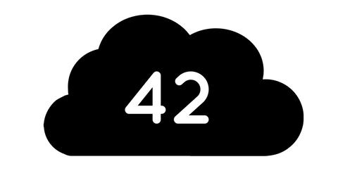 Numbers in a black cloud 4k Animation
