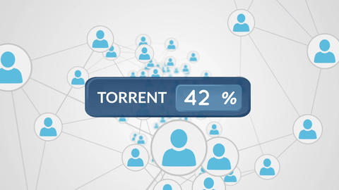 Torrent networking Animation