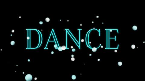 Blinking dance text Animation