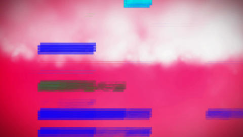Colorful scrambled effect against cloud on pink background Animation
