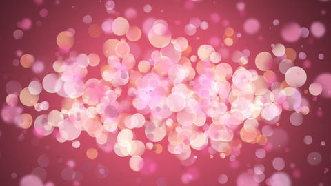 Background filled with pink light bubbles Animation