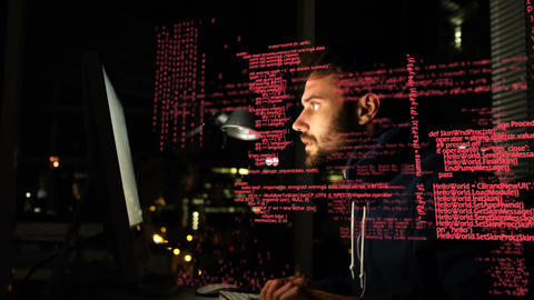 Hacker stealing information Animation