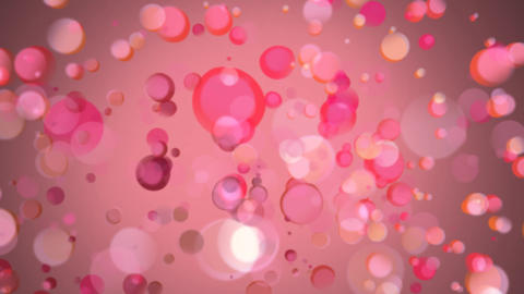 Pink bubbles moving towards the center of the screen Animation