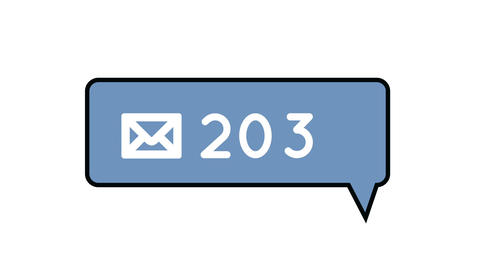 Message notification increasing 4k Animation