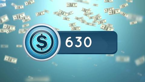 Increasing dollar amount Animation