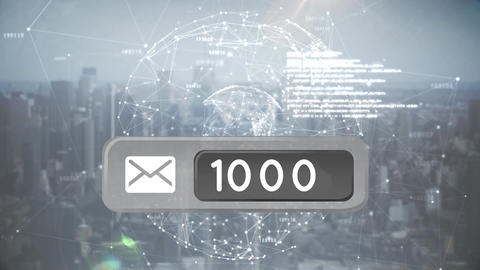 Message icon and codes Animation