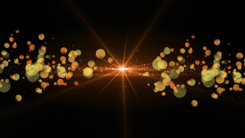 Orange light and bokeh light effects Animation