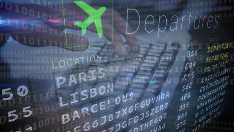 Flight information display system Animation