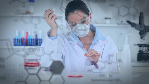 Scientist in a lab Animation