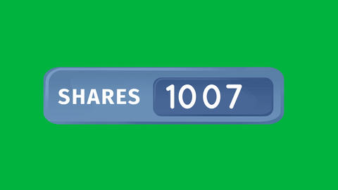 Number of shares in a blue box 4k Animation