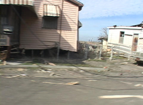 Homes and vehicles were completely destroyed show the destruction caused by Hurricane Katrina Footage