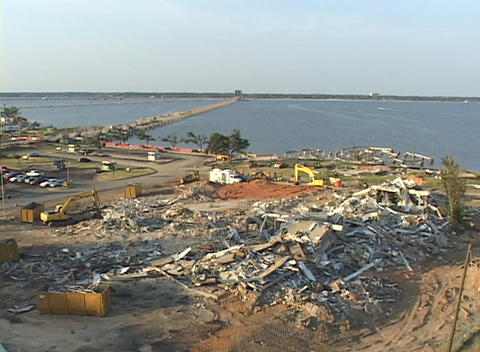 Hurricane Katrina destruction shows along the Gulf Coast of Mississippi Footage
