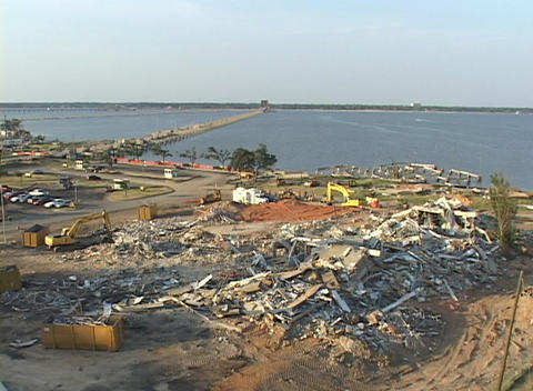Hurricane Katrina destruction shows along the Gulf Coast... Stock Video Footage