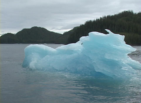 A traveling shot around an iceberg Stock Video Footage