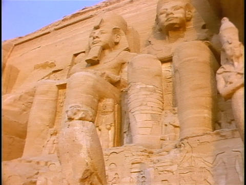 Carvings of Egyptian royalty decorate Kings Tomb in Egypt Footage