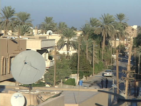 men are standing in the street of Baghdad Stock Video Footage