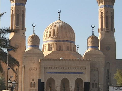 The mosque in Baghdad is a place of worship for followers of the Islamic faith Footage