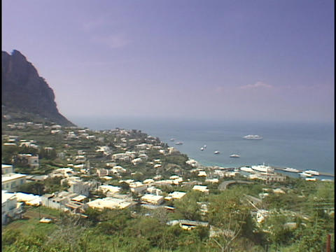 The sun shines on the Isle of Capri Stock Video Footage