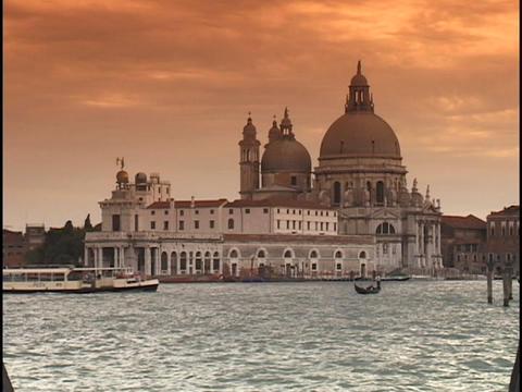 The historic Saint Mark's Square and Santa Maria Della... Stock Video Footage