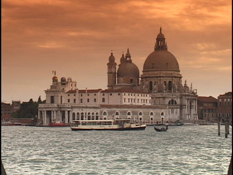 The historic Saint Mark's Square and Santa Maria Della... Stock Video Footage