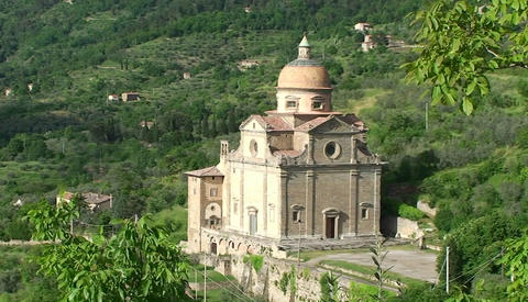 A beautiful church near Cortona Italy Stock Video Footage