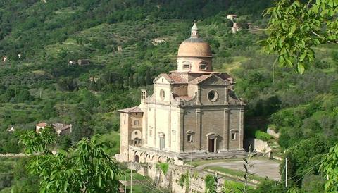 A beautiful church near Cortona Italy Stock Video Footage