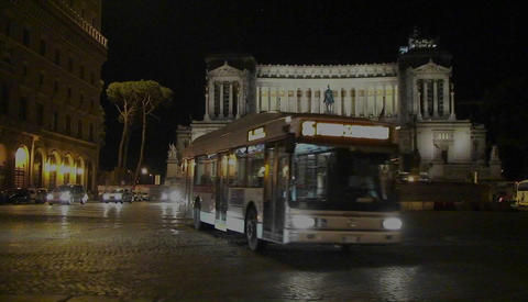 A night view of Rome Footage