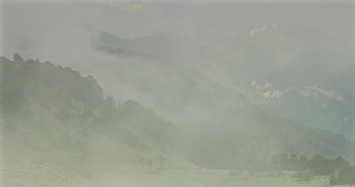 Fogbank And Mist At Vallon De Caralaite, France Footage