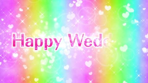 happy wedding メッセージ動画 ループ 結婚おめでとう CG動画
