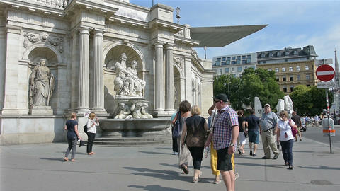 Albertina Museum in Vienna Footage