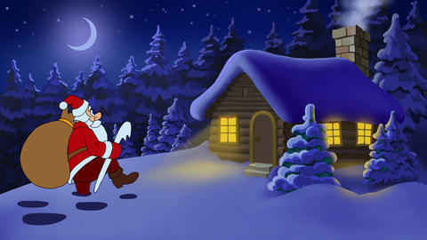 Christmas animated card with Santa Claus Animation