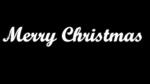 Merry Christmast Text Animación