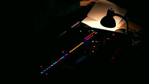 4K Sound Mixer / Sound Designer / Mixer Console Footage