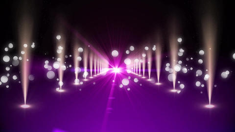 Purple walkway with bright lights Animation