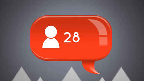 Profile icon in a message bubble icon Animation