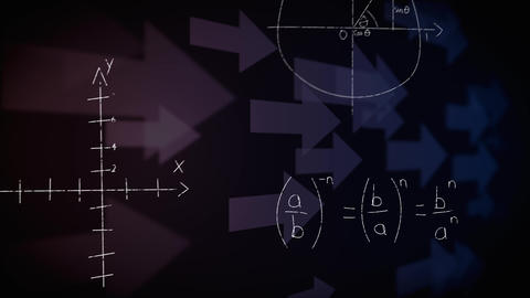 Mathematical equations and arrows Animation