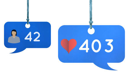 Profile and heart icons in a message bubble icon 4k Animation